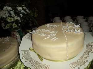 Frägsta Hälsingegård bröllop - Tårta