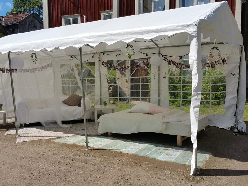 Bröllop Frägsta Hälsingegård-tält