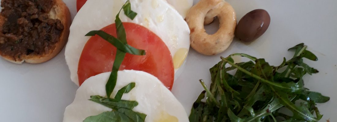 Caprese tomat och mozzarella